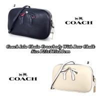 Tas Coach Grade ORI Mirror Import Isla Chain Crossbody Bow Chalk Kado 7cfc87af86