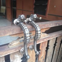 Handle Pintu Kuningan / Brass Door Pull - Kuda Laut 02