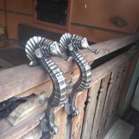 Handle Pintu Kuningan / Brass Door Pull - Kuda Laut 01