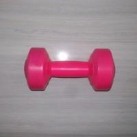 pink, 1 kg dumble/dumbbell/dumbel/dumbell (bukan barbell/barbel)