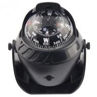 Kompas Ball Shaped Magnetic Compass Declanation Correction - Black