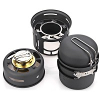 Alocs Kompor Gas Alcohol Stove Portable untuk Camping - CW-C01 - Black