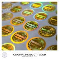 """hologram sticker gold """"murah ikuti update harganya"""""""
