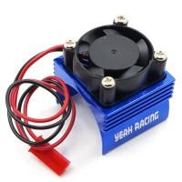 Yeah Racing Alloy 380 Motor Heat Sink Cooling Fan Blue 1pcs YA-0461BU