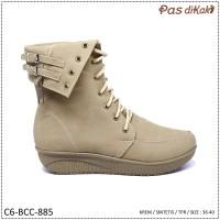 Sepatu Boot Kasual Lace-Up Wanita | C6-BCC-885