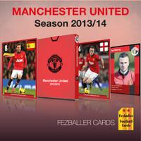 Kartu bola Fezballer Cards tim MANCHESTER UNITED season 2013-2014