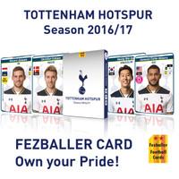 kartu bola Fezballer Cards TOTTENHAM HOTSPURS season 2016-2017