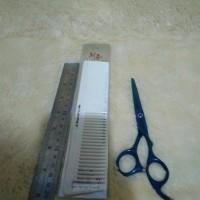 set sisir gunting manual alat cukur rambut pangkas barber Berkualitas