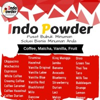 Bubuk Minuman Rasa Milo / Cappucino / Coklat / Green Tea / Taro / Buah