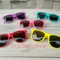 Kacamata Hitam Anak Bayi Bulat Kotak Jemur Sunbathing Lucu Frame War