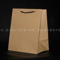 Paper bag polos ukuran 18x13x22
