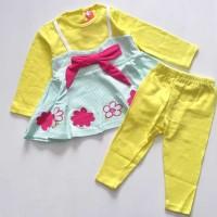Baju Anak Bayi Perempuan Setelan Lengan Panjang Legging