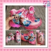 Sepatu Anak Perempuan Led Frozen 902 Boots Size 28-33 Lampu