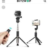 Diskon BlitzWolf BW-BS5 Bluetooth Selfie Stick Tongsis Tripod