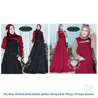 Dress Hijabers Selebgram Gamis Kekinian Acara Santai Formal Simpel