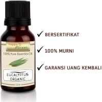 Happy Green ORGANIC Eucalyptus Globulus Essential Oil (10 ml) -Murni