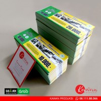 Harga cetak voucher tiket kupon 5x13cm start rp 200 nomorator | antitipu.com