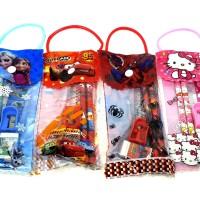 Paket alat tulis tas mini pensil set souvenir anak sekolah
