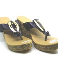 Sandal Wanita Wedges Tinggi Broshe