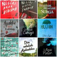 Buku Novel Tere Liye ( Bebas Pilih 1 Novel Sesukamu )