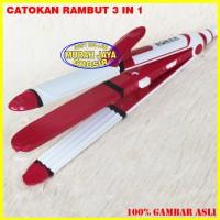 Original Catok Rambut Sonar SN-710 Catokan Rambut 3 In 1 Multifungsi
