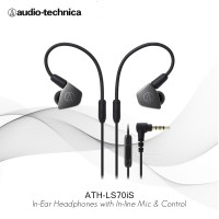 FLASH SALE Audio-Technica ATH-LS70iS BK ( BLACK ) In Ear Headphones
