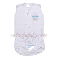 Miyo putih Setelan Baju Kutung dan Celana Pop sz newborn
