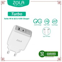 ZOLA Turbo USB Charger PD & Qualcomm Quick Charge 3.0 Dual Output