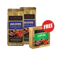 Buy 2 JJ Royal Coffee Java Estate Arabica Bag 200gr Free Lampung@ 5sch