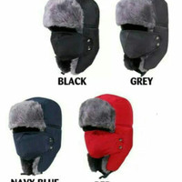 Topi Bomber Rusia ushanka /topi import winter+ masker / topi ski murah
