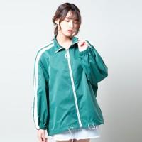 Stripe Jacket Oversized Merongshop Green