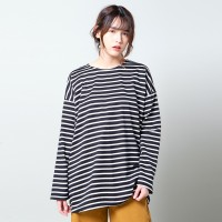 Stripe T Shirt Oversized Merongshop Black