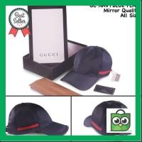 KUALITAS SUPER topi gucci navyblue flag topi kw super topi fashion