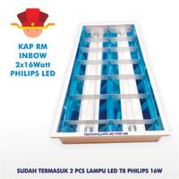 Kap RM Lampu TL T8 Philips Tube Ecofit LED 2x16 Watt / 120cm