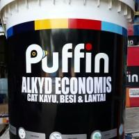 Cat kayu besi PUFFIN ALKYD GLOSS economis 5 kg
