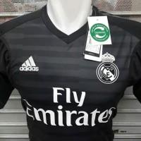 f3ef3a88ad6 JERSEY BOLA REAL MADRID GK KIPER BLACK 2018-2019 GRADE ORI