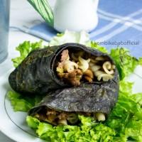 Harga kebab frozen besar rasa lada hitam dengan beef tortilla hitam isi | DEMO GRABTAG