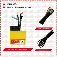 ECU BRT Juken 5 Basic Racing Turbo Mio M3 - Fino 125 Blue Core Bagus