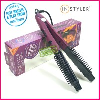 INSTYLER IONIC STYLER PRO 2 in 1 CERAMIC HOT BRUSH and FLAT IRON DUAL