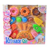Mainan Masak-Masakan Anak Kitchen Set Hello Kitty Series Donat