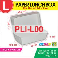Order Sampel Paper Lunch Box / Dus Makanan Autolock / Take Away