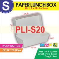 PLI-S20 Paper Lunch Box / Kotak Makan Uk. S + Cetak 2 warna