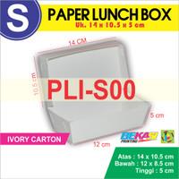 PLI-S00 Paper Lunch Box / Kotak Makan Polos Uk. S   14 x 10.5 x 5 cm