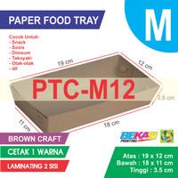 PTC-M12 KRAFT Paper Tray Ukuran M + Cetak 1 Warna & Laminating 2 Sisi