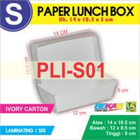 Paper Lunch Box / Kotak Makan Polos Ukuran S + Laminating 1 Sisi