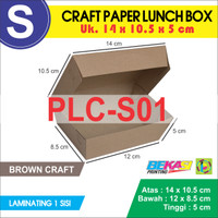 CRAFT Paper Lunch Box / Kotak Makan Polos Ukuran S + Laminating