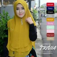 Jilbab Khimar Syari Pet Ceruti Trivia Oval 3 Layer Jumbo Hijab Syari