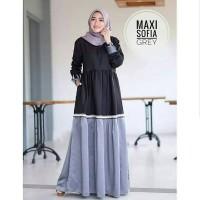 Maxi Dress Mostcrepe Sofia Grey/Abu