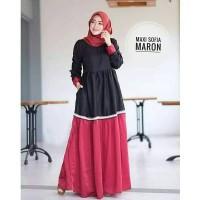 Maxi Dress Mostcrepe Sofia Maroon