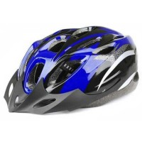Helm Sepeda EPS Foam PVC - x31 biru hitam terlaris
